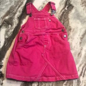 Carters 24M pink dress overalls. Adorable!